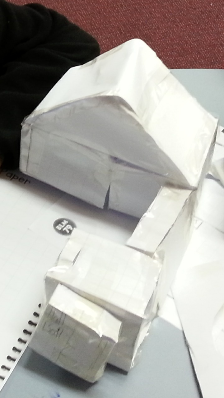 how to build a 3d paper house