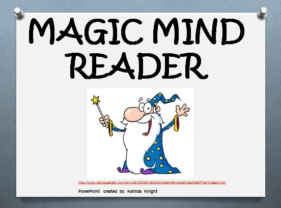 Mind Reading Clipart Magic mind reader maths lesson plan - predict a ...