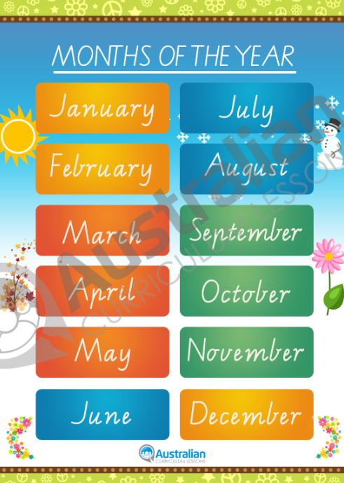Seasons and months in australia worksheets - Little birds movie ...