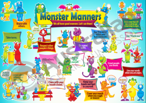 Monster Manners Poster